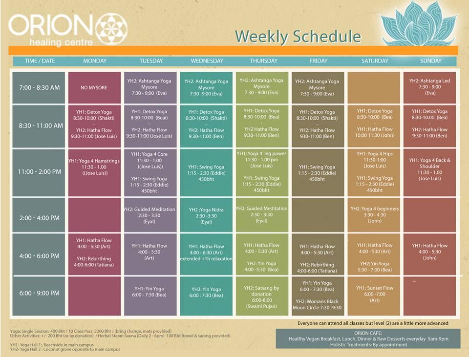 schedule till3rd Jul